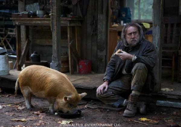 ピッグ、pig、リベンジ・スリラー、盗まれたトリュフ豚を探す孤独な男、ニコラス・ケイジ、豚を探すトリュフ・ハンター、愛と喪失の静かなる復讐劇、マイケル・サルノスキ、アレックス・ウルフ、アダム・アーキン