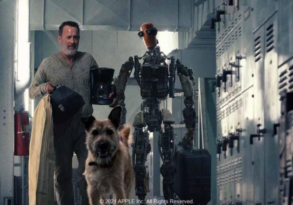 フィンチ、Finch、ミゲル・サポチニク、トム・ハンクス、ケイレブ・ランドリー・ジョーンズ、シームス(グッドイヤー役)、Apple TV +、保護犬がトム・ハンクスのSF大作に主演!、太陽の大変動によって荒廃した地球でたった一人孤独な男が愛犬とロボットと安住の地を探してアメリカ西部へと危険な旅に出る!友情と愛とユーモアに溢れたトリオのサバイバル・ジャーニー